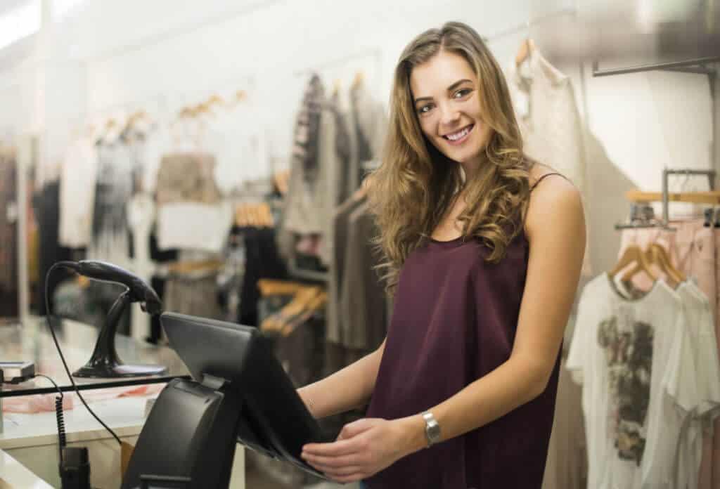 online pos fashion aan de kassa