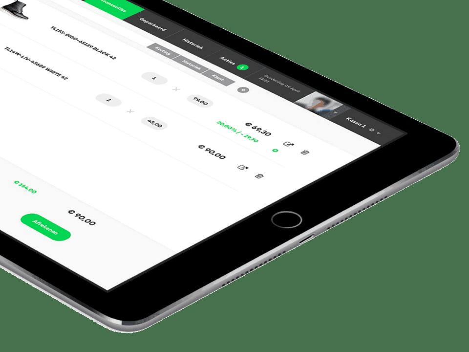 kassa werkt op zowel PC, Android en POS touchscreens als Mac en iPad