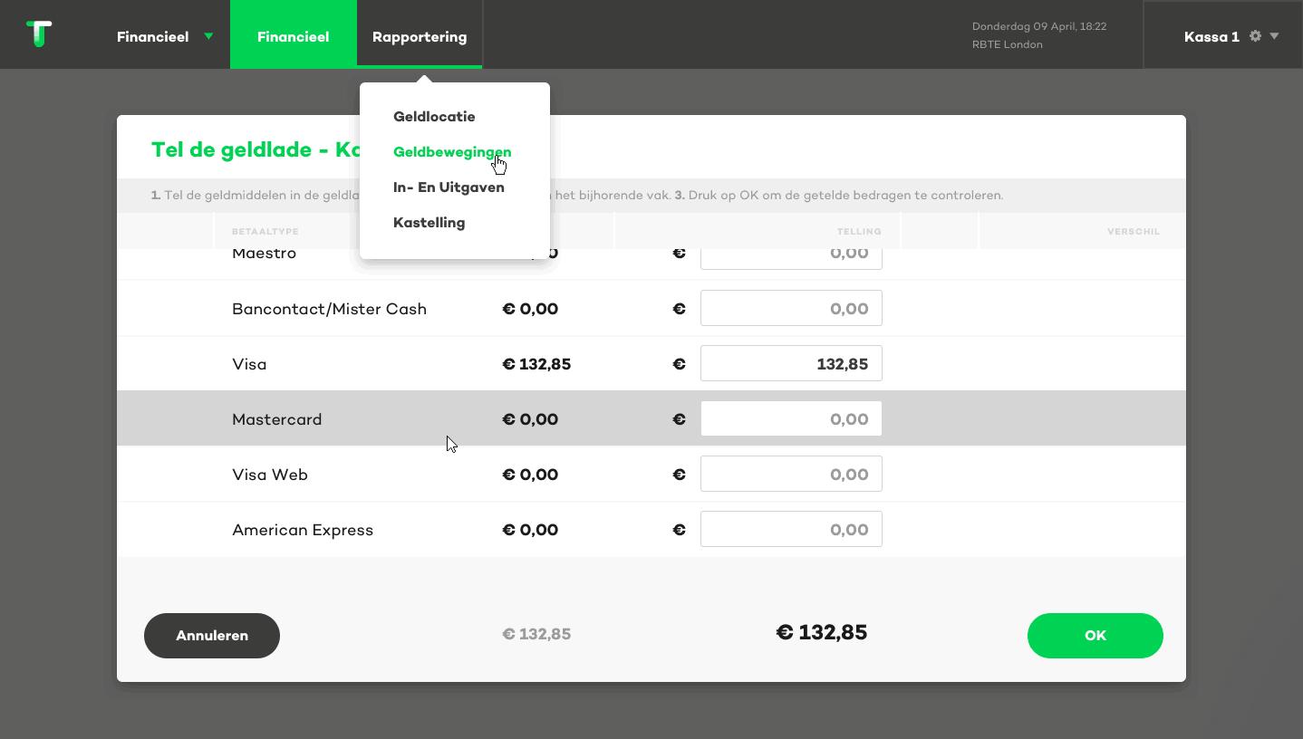 winkelbeheer kastellling screenshot