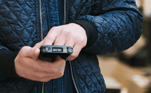 mobiele scanner op de werkvloer