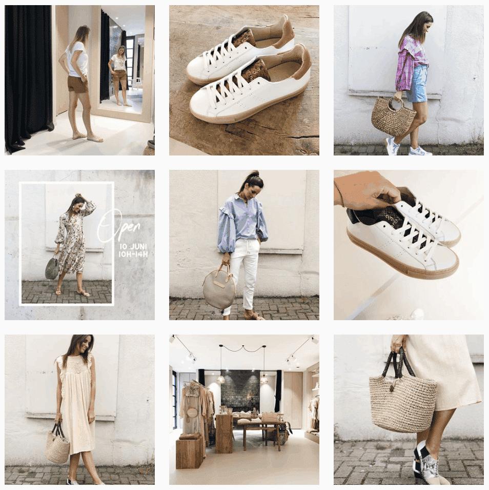 voorbeeld instagram bazar boutique