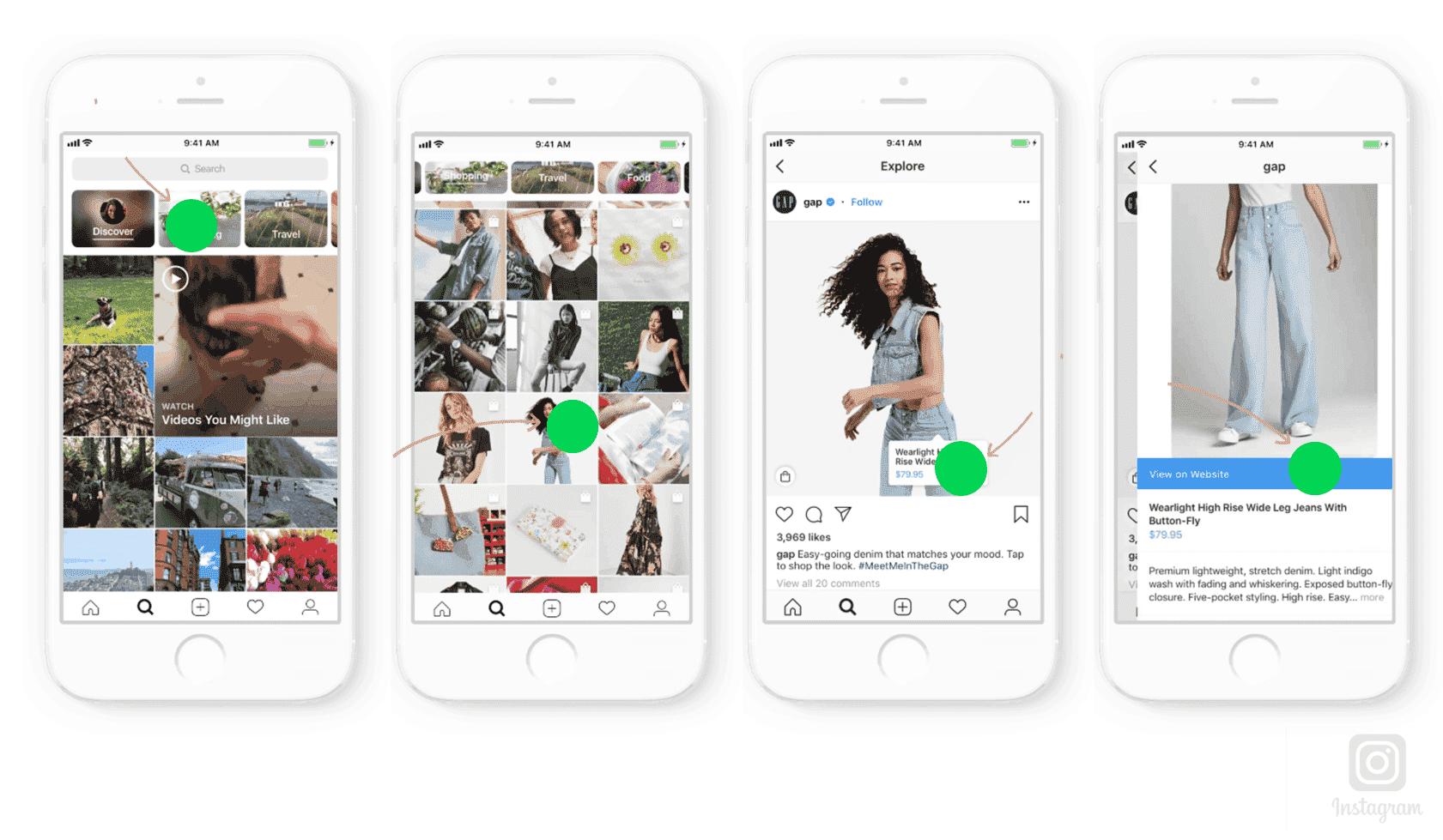 screenshot instagram shopping stories illustratie 2