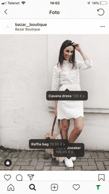instagram shopping voorbeeld