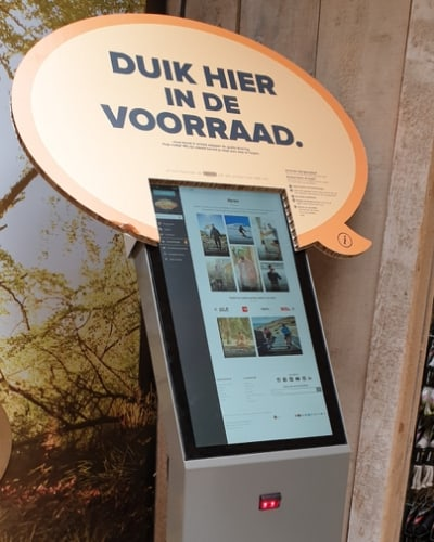 as adventure kiosk in store